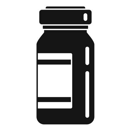 Measles pill jar icon, simple style