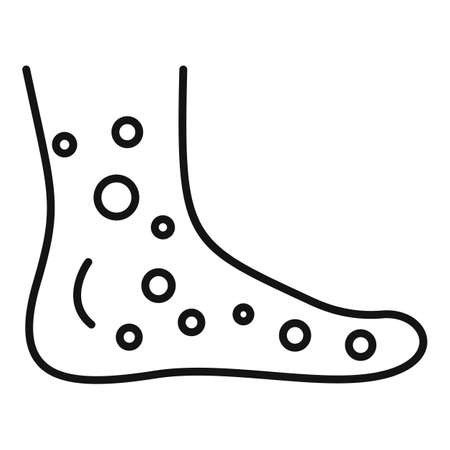 Foot measles icon, outline style Vektorové ilustrace