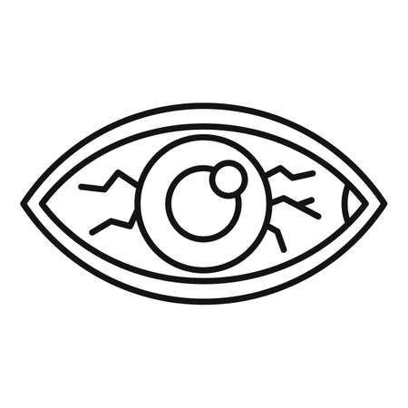 Measles eye icon, outline style