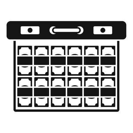 Bribery money case icon, simple style