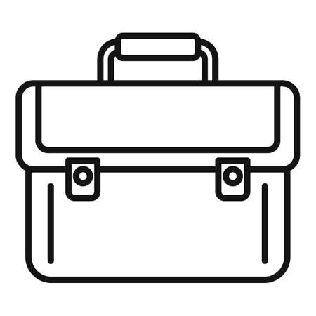 Briefcase money bribery icon, outline style