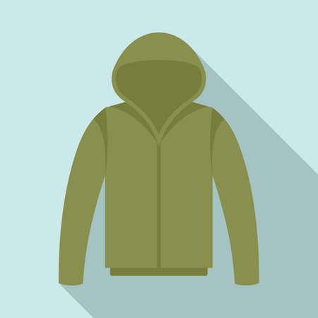 Fisherman sweater icon, flat style