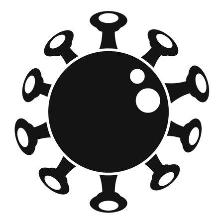 Chicken pox virus icon, simple style