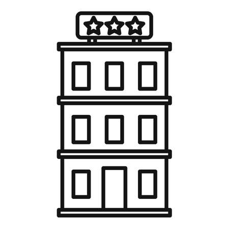 Room service hotel icon, outline style