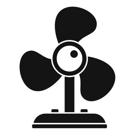 Room service fan icon, simple style