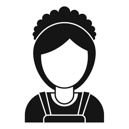 Room service maid woman icon, simple style
