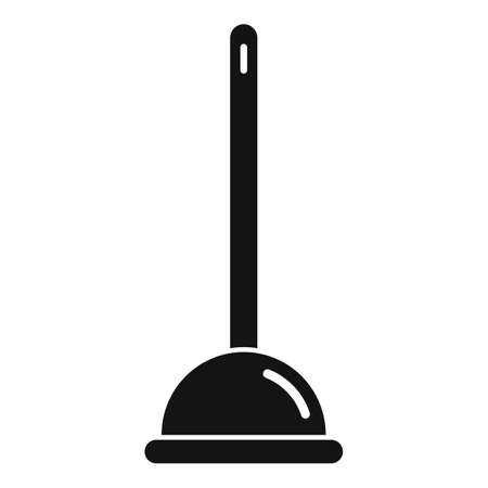 Cleaning toilet sucker icon, simple style