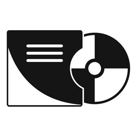 Stage director cd icon, simple style