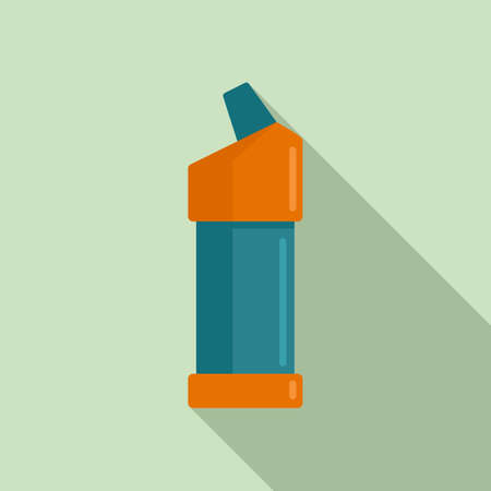 Toilet cleaner bottle icon, flat style