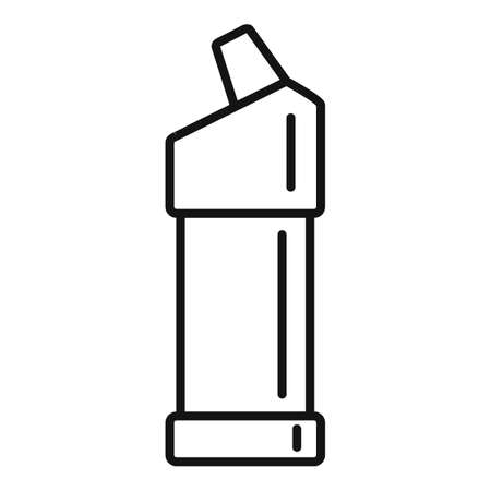 Toilet cleaner bottle icon, outline style