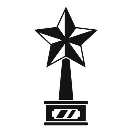 Cinema star trophy icon, simple style Ilustração