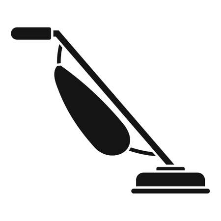Handle vacuum cleaner icon, simple style