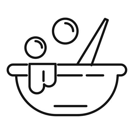 Face mask pot icon, outline style