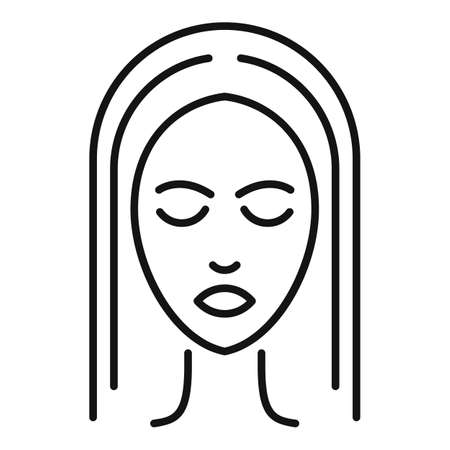 Face cosmetology icon, outline style