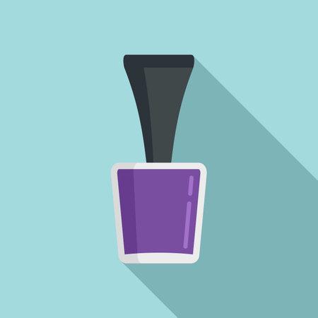 Manicurist polish bottle icon, flat style