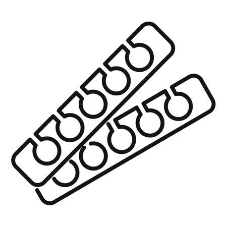 Manicurist polish nail stand icon, outline style