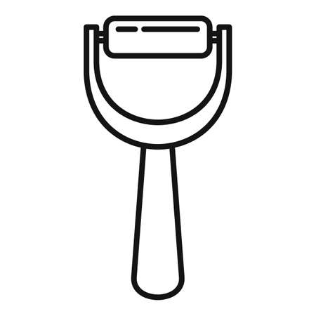 Manicurist handle tool icon, outline style