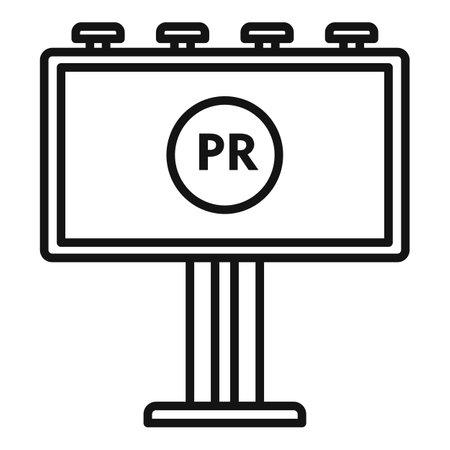 Pr specialist billboard icon, outline style