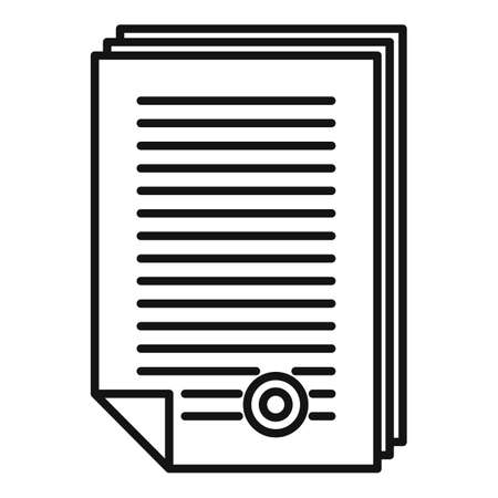 Product manager documents icon, outline style