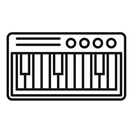 Electric piano icon, outline style