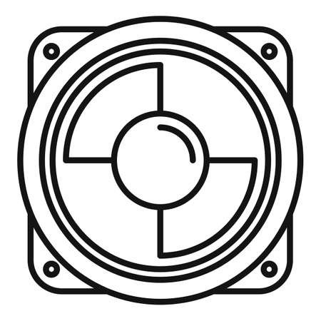 Car music speaker icon, outline style