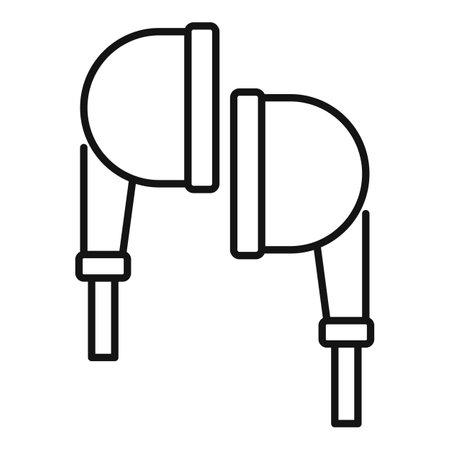 Earphones icon, outline style