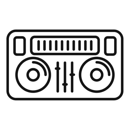 Dj deck icon, outline style