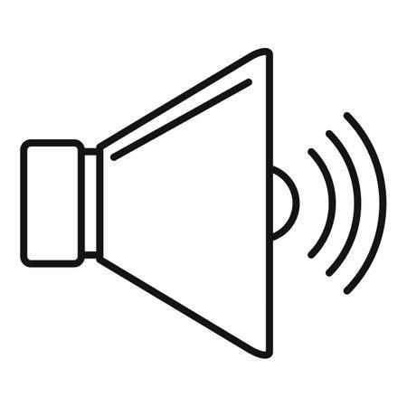 Speaker icon, outline style 向量圖像