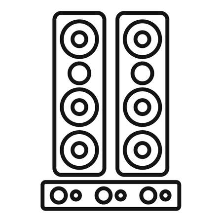 Speakers system icon, outline style