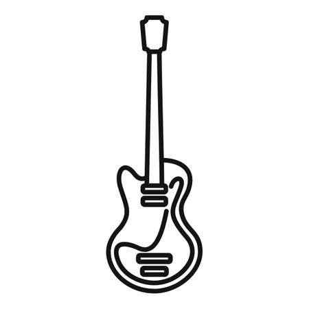 Music guitar icon, outline style