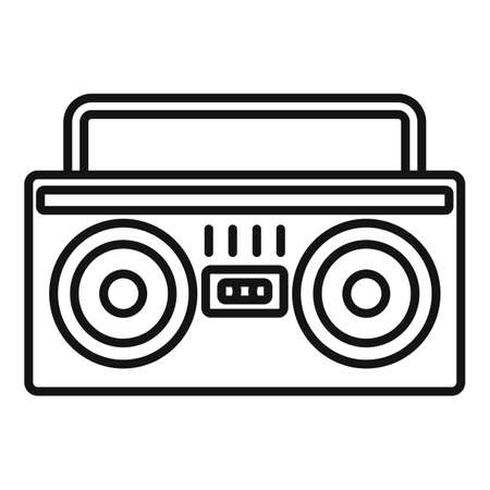 Boombox icon, outline style