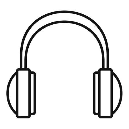 Studio headphones icon, outline style