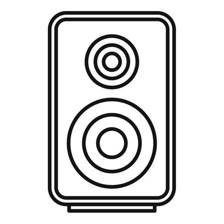 Acoustic speaker icon, outline style 向量圖像