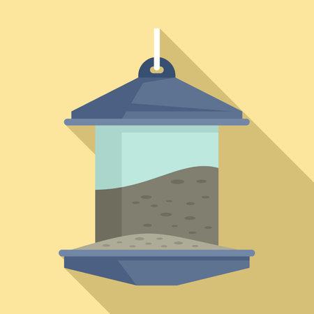 Bird feeders icon, flat style