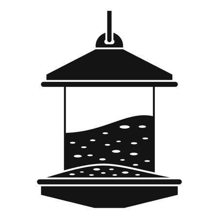 Bird feeders icon, simple style