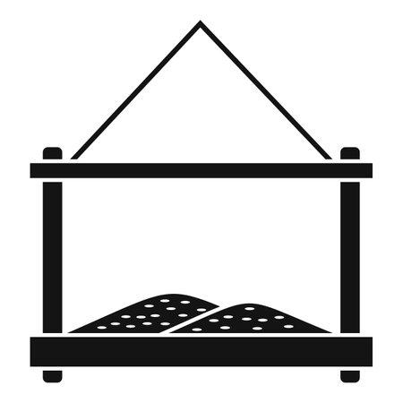 Grains bird feeders icon, simple style