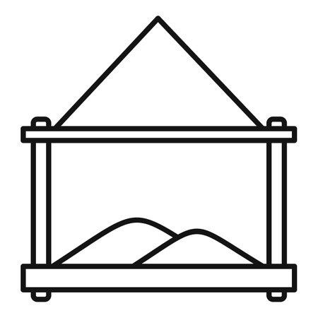 Grains bird feeders icon, outline style