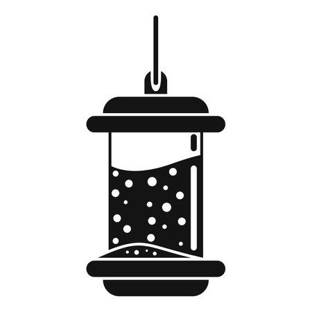 Plastic bird feeders icon, simple style
