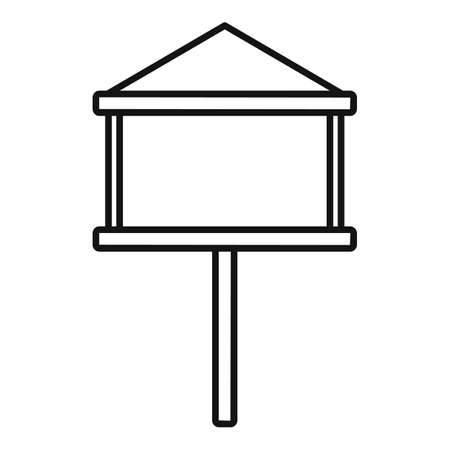Seed bird feeders icon, outline style