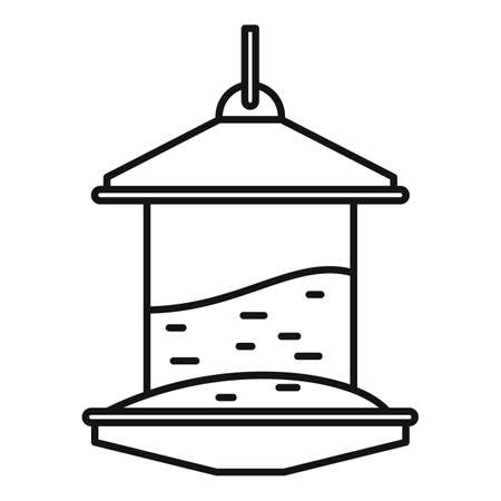 Bird feeders icon, outline style