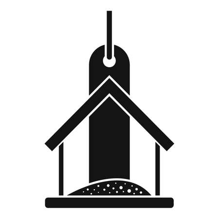 Food bird feeders icon, simple style