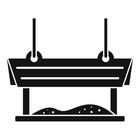 Tree bird feeders icon, simple style 向量圖像