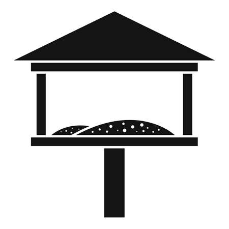 Cover bird feeders icon, simple style 向量圖像