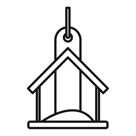 Food bird feeders icon, outline style 向量圖像
