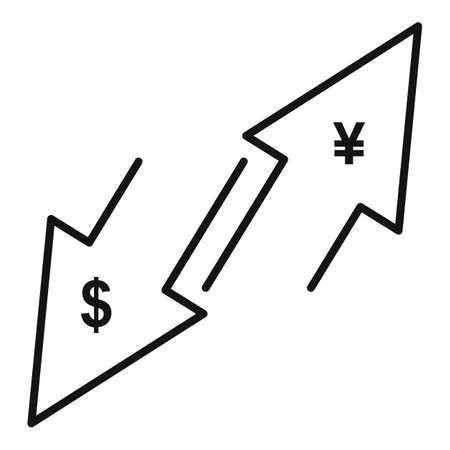 Trade war actions icon, outline style