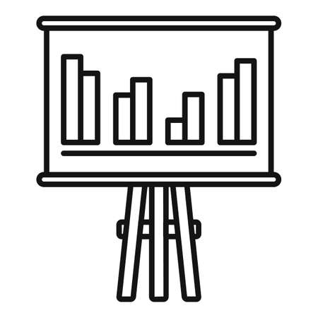 Trade war banner graph icon, outline style