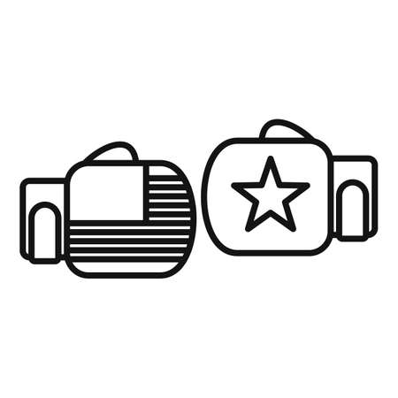 Trade war boxing gloves icon, outline style