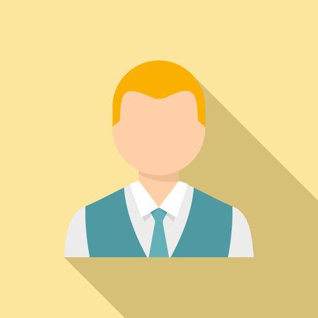 Sweden man icon, flat style 向量圖像