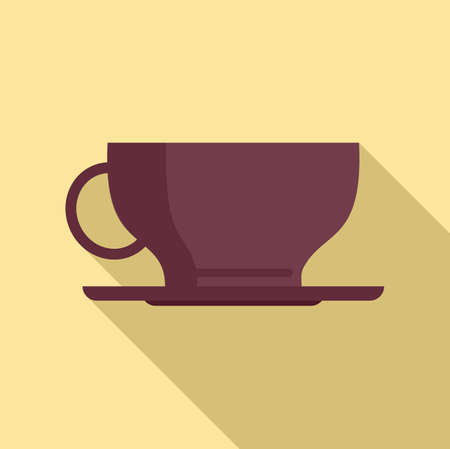 Sweden coffee cup icon, flat style 向量圖像