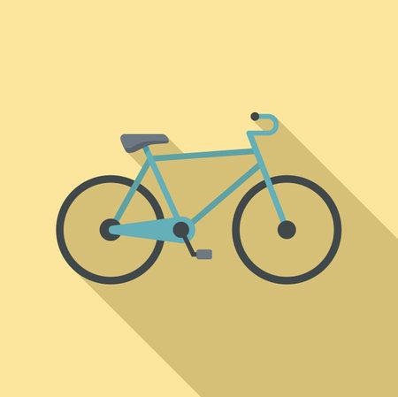 Swedish bike icon, flat style 向量圖像
